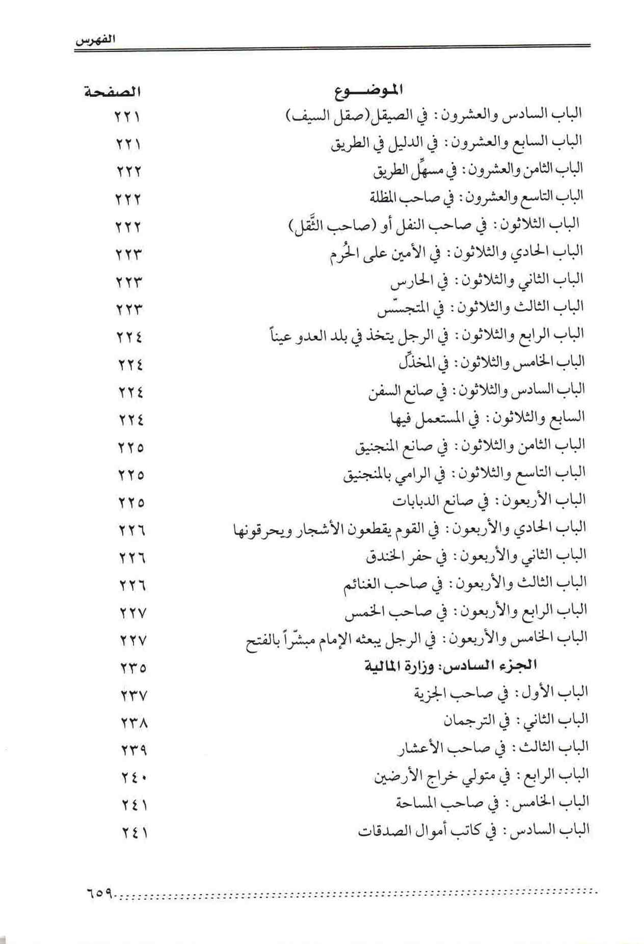 ص 59 محتويات كتاب نظام الحكومة النبوية المسمي التراتيب الإدارية