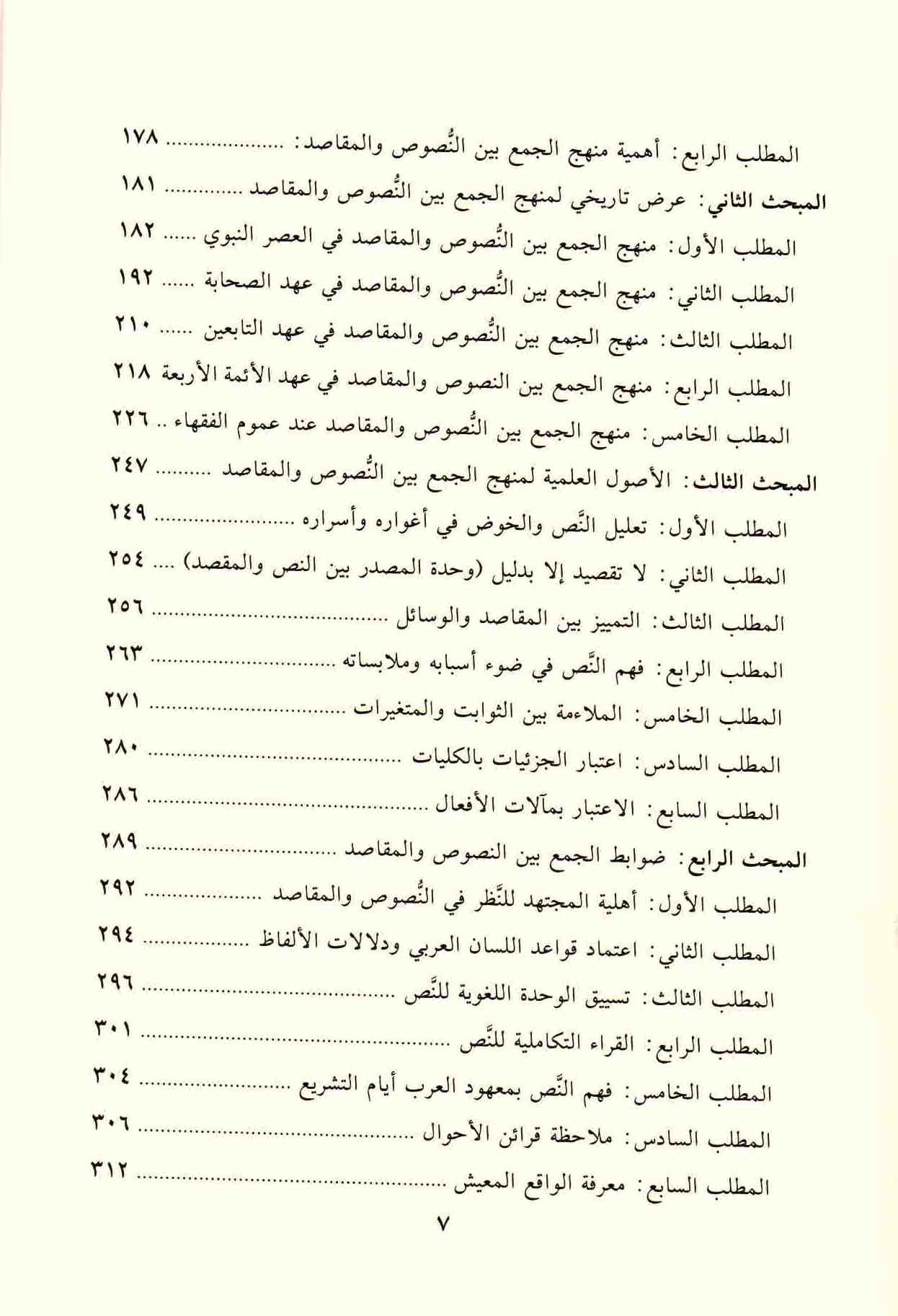 ص 7 محتويات كتاب استثمار النص الشرعي